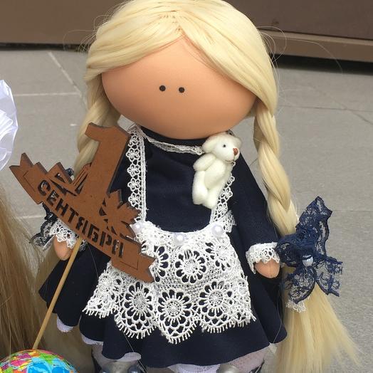 Кукла ручной работы «Школьница»