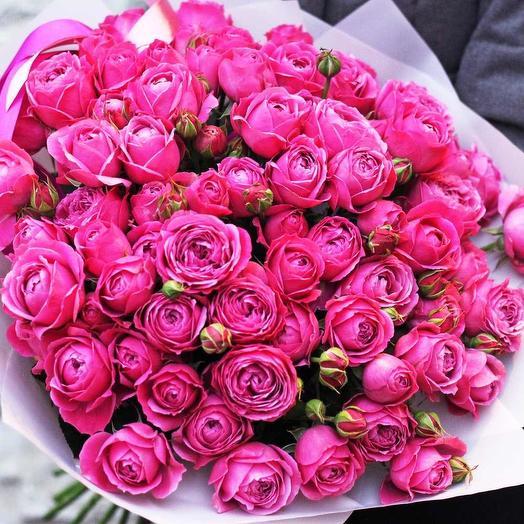 29 кустовых пионовидных роз