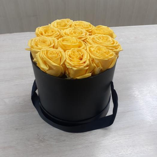 Цветы в коробке 11шт роз