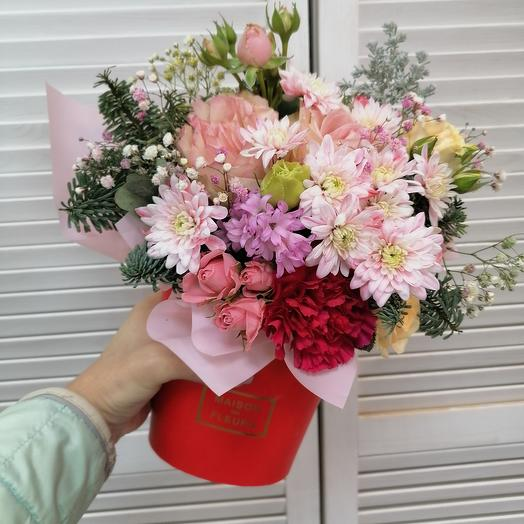 """Цветы в коробке""""нежность"""" 🌸"""