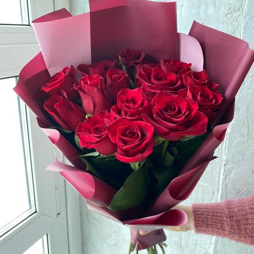 Монобукет из красных роз