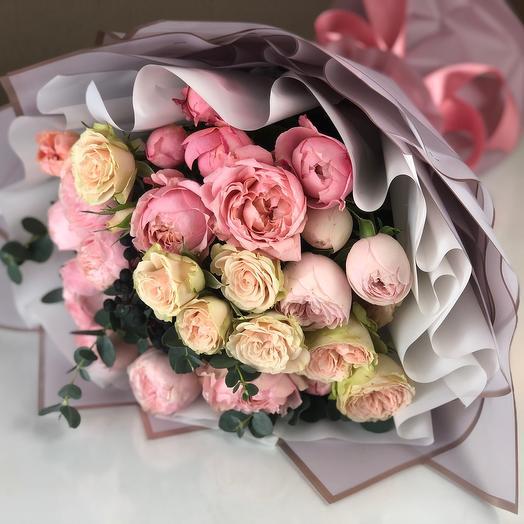 Букет «розовая жемчужина»