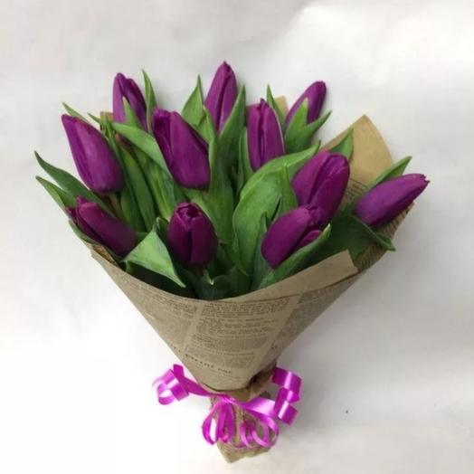 Тюльпаны сиреневые