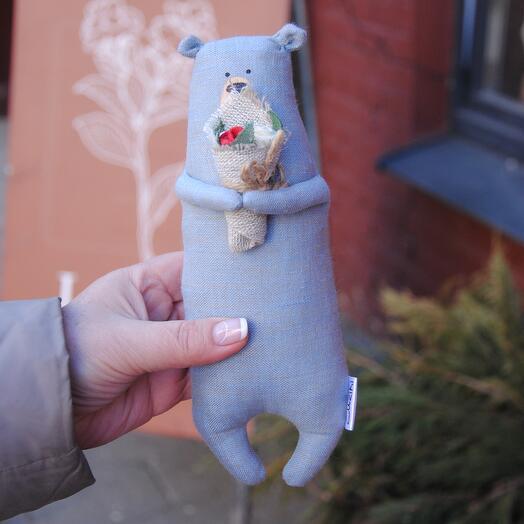 Игрушка Медвежонок Серо-синий
