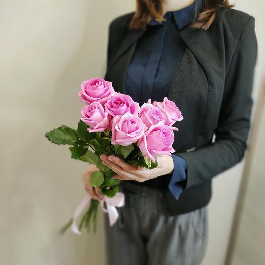 Розовая роза 50 см