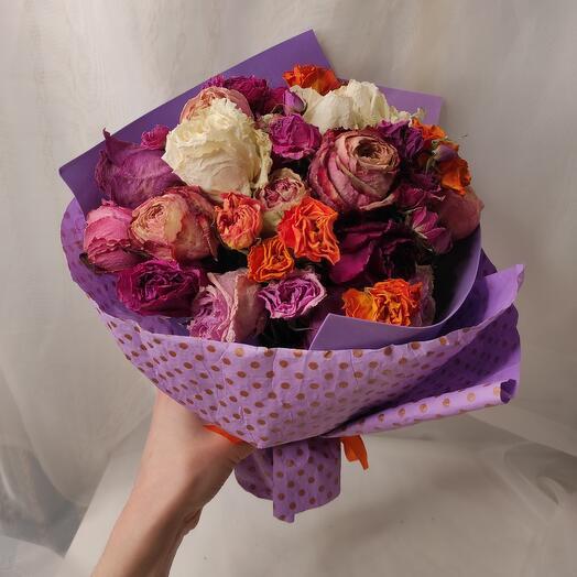 Букет из сухих роз