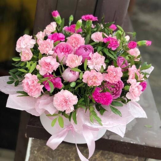 Композиция из цветов Розовые мечты
