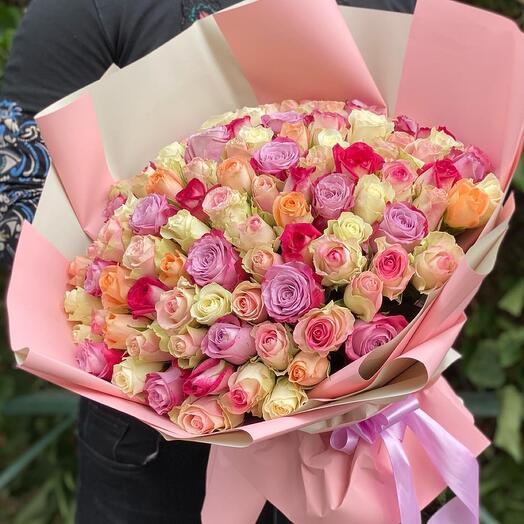 101 Роза премиум микс