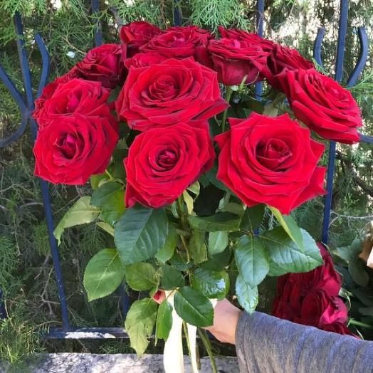Букет из 15 красных роз 70 см: букеты цветов на заказ Flowwow