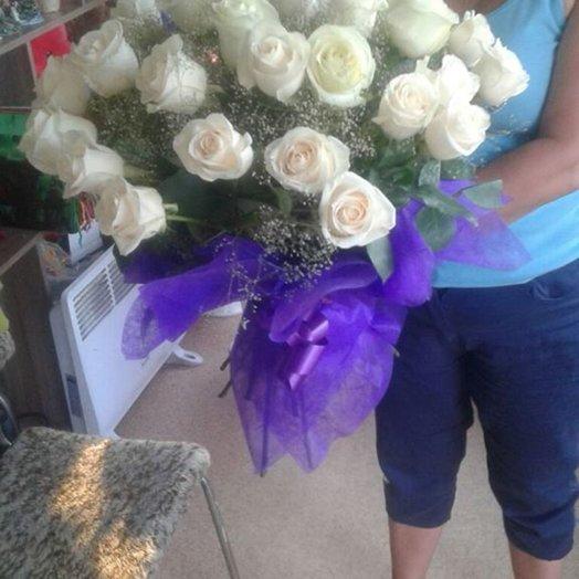 Букет 35 голландских роз: букеты цветов на заказ Flowwow