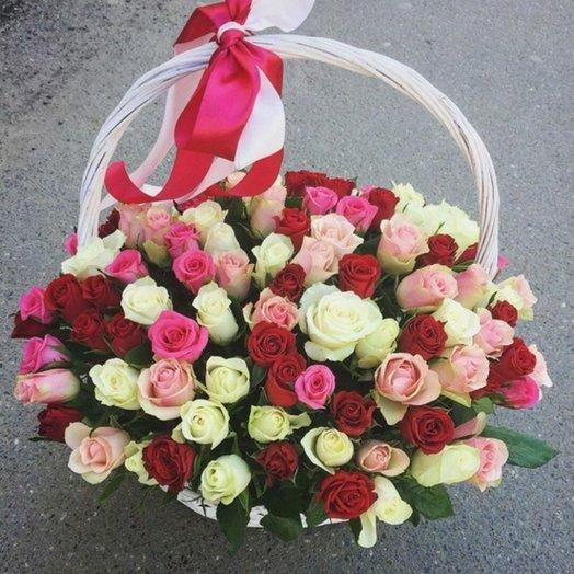 Корзина цветов 10: букеты цветов на заказ Flowwow