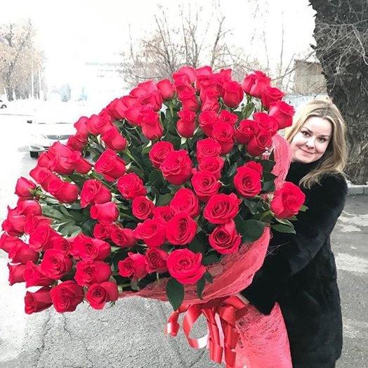 Букет роз 101 ночь: букеты цветов на заказ Flowwow