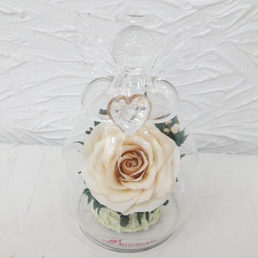Композиция в вазе формы ангела: букеты цветов на заказ Flowwow