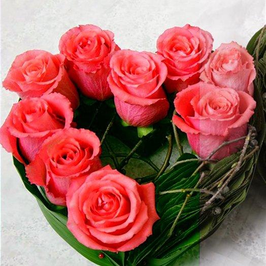 """Сердце малое """"Карина"""": букеты цветов на заказ Flowwow"""