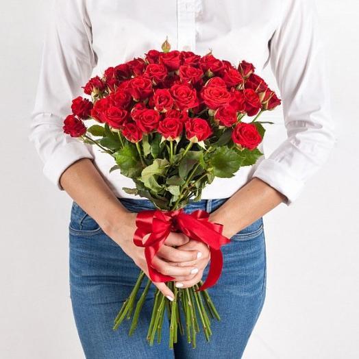 Красное кружево: букеты цветов на заказ Flowwow