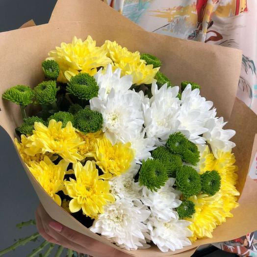 Букет из хризантем микс: букеты цветов на заказ Flowwow