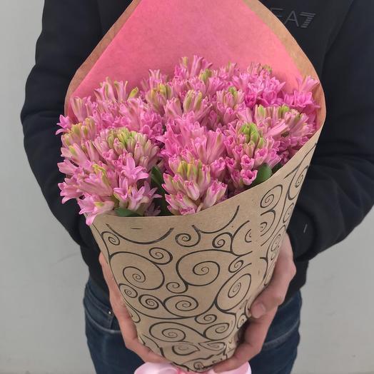 Букет из 25 розовых Гиацинтов: букеты цветов на заказ Flowwow