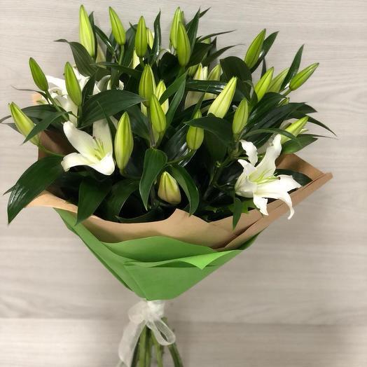 """Лилу"" 9 веток лилий: букеты цветов на заказ Flowwow"