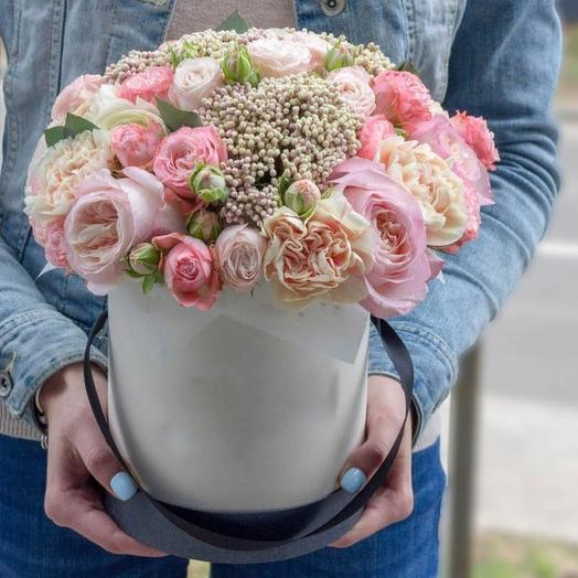 "Цветочная композиция ""Розовый микс"": букеты цветов на заказ Flowwow"