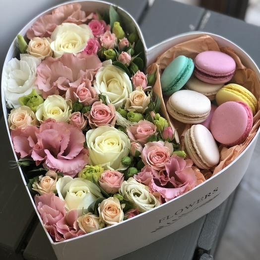 Романтичный подарок ко дню Влюблённых: букеты цветов на заказ Flowwow