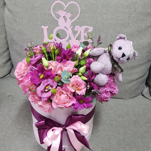 "Коробочка ""Люблю"": букеты цветов на заказ Flowwow"
