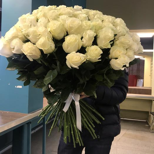 Букет 26 «Чистые намерения» роза Эквадор: букеты цветов на заказ Flowwow