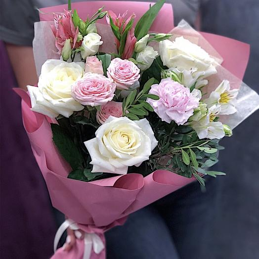 Букет из разных цветов: букеты цветов на заказ Flowwow