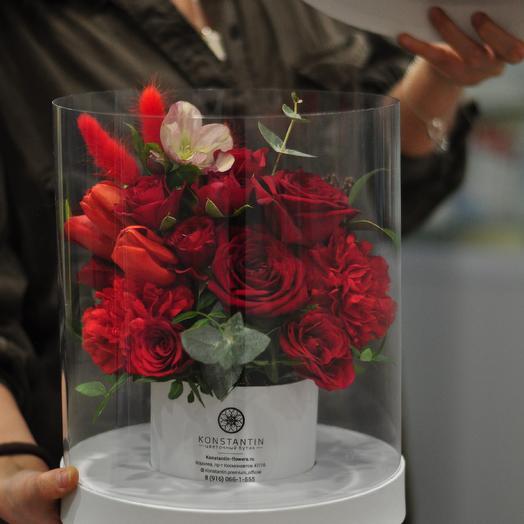 Цветочный Аквариум LUXURY: букеты цветов на заказ Flowwow