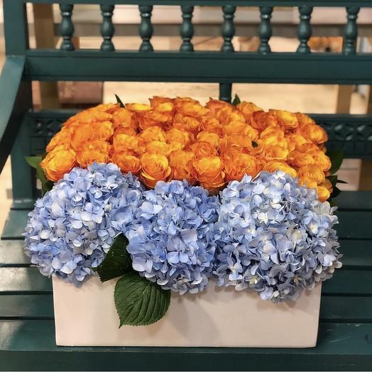 Roses Hydrangea: flowers to order Flowwow