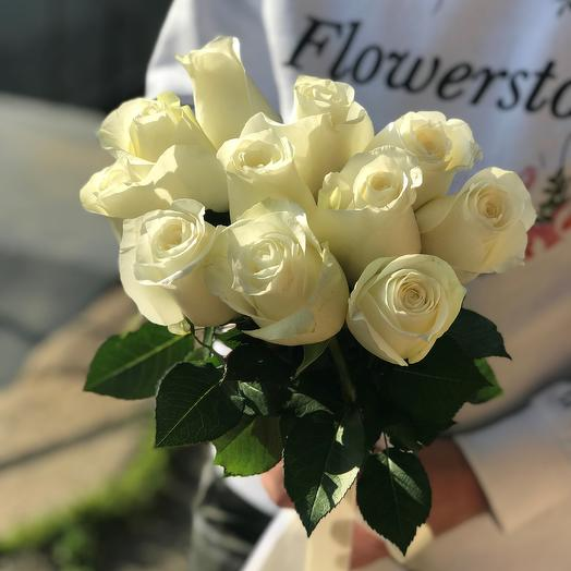 Розы. Букет из 11 кенийских роз. N544: букеты цветов на заказ Flowwow