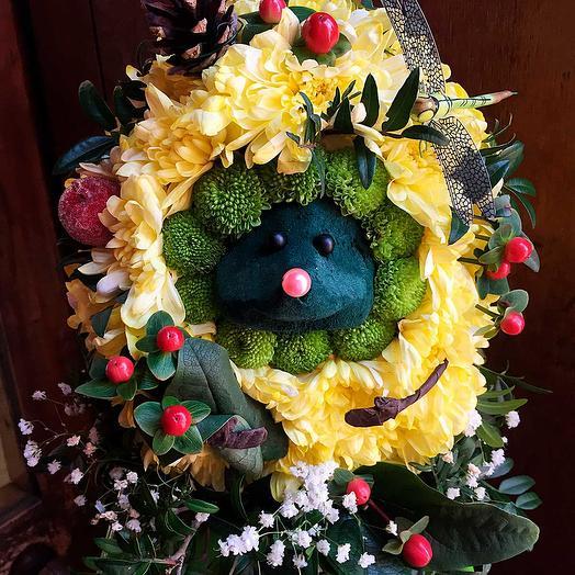 Игрушка из цветов Ёжик: букеты цветов на заказ Flowwow