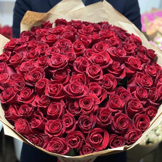 101 Красная роза 70см