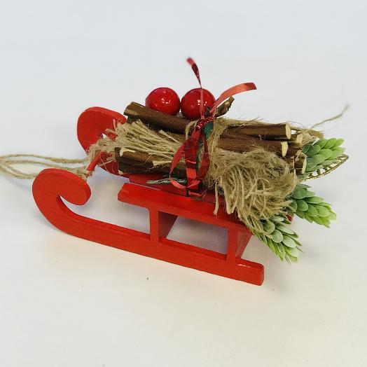 Сувенир «Санки»: букеты цветов на заказ Flowwow
