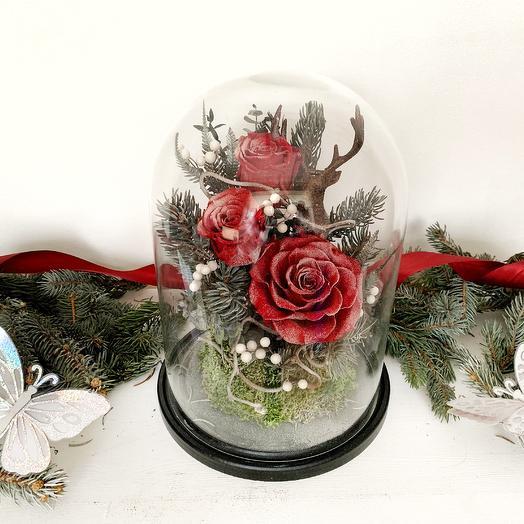 """Новогодняя композиция """"Ночь накануне Рождества"""": букеты цветов на заказ Flowwow"""