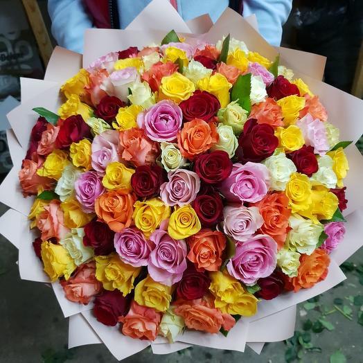 Цветной микс: букеты цветов на заказ Flowwow