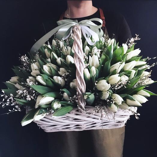 101 тюльпан с медовым ароматом: букеты цветов на заказ Flowwow