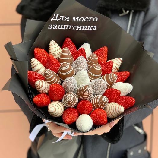 Клубничная мечта М в шоколаде: букеты цветов на заказ Flowwow