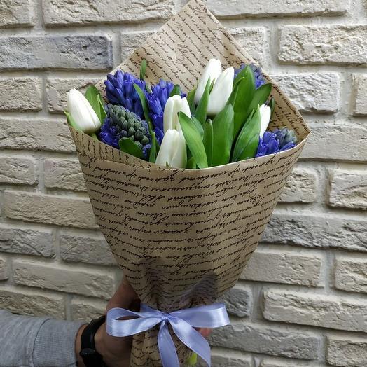 Весенняя роспись: букеты цветов на заказ Flowwow