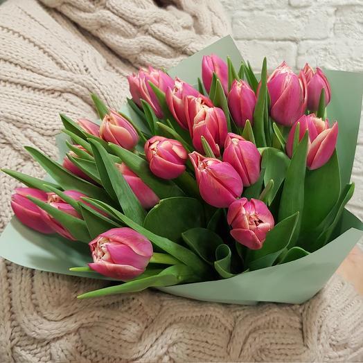 Пионовидные тюльпанчики для солнечного настроения по супер цене: букеты цветов на заказ Flowwow