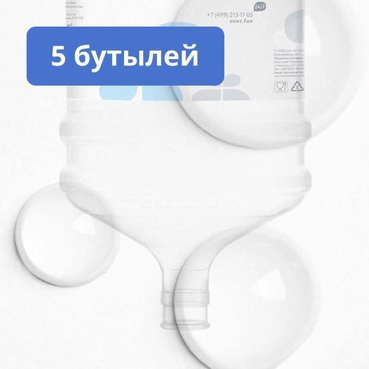 Комплект горной воды Ever, 5 бутылей,  тара многооборотная