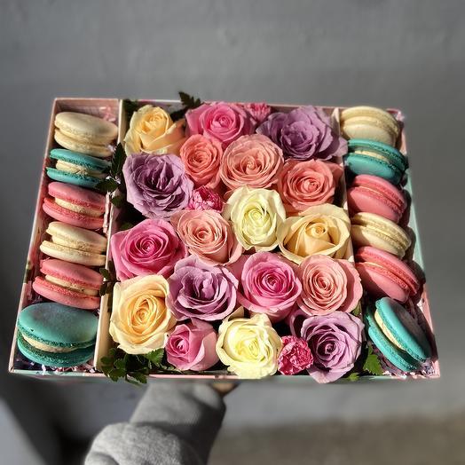 Радужная сладость: букеты цветов на заказ Flowwow
