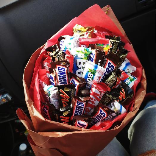 Букет с конфетами