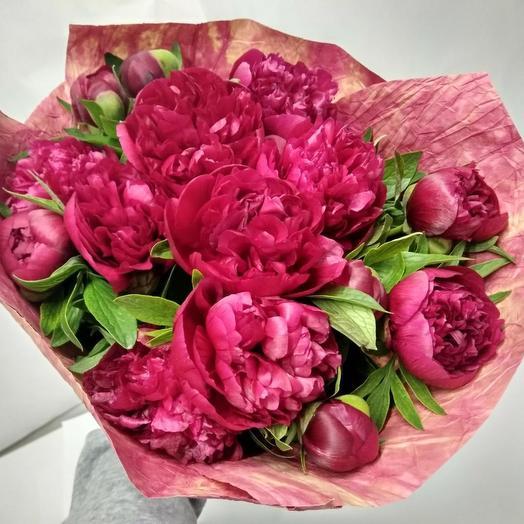 Букет пионов 😍: букеты цветов на заказ Flowwow