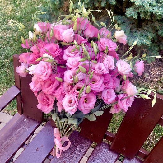 Букет розовых французских роз «Необъятные»