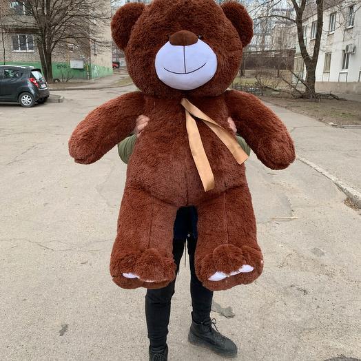 Плюшевий ведмедик 130 см коричневий