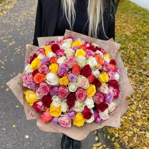 101 роза 40 см