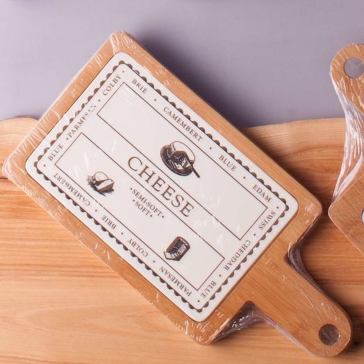 Разделочная доска для сыра Керамика дерево