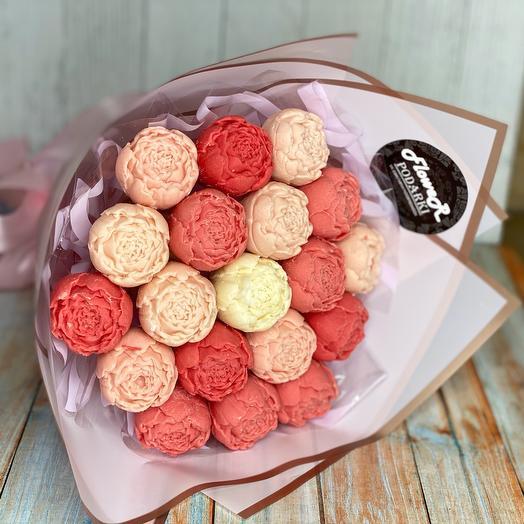 Шоколадные розы из бельгийского шоколада