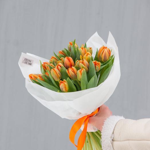 "Тюльпаны ""Оранж принцесс"" 29шт"
