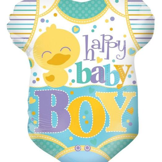 Шар Фигурка выписка мальчик happy baby boy